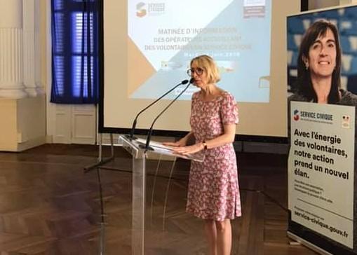La présidente de l'Agence du service civique Béatrice Angrand est en Martinique
