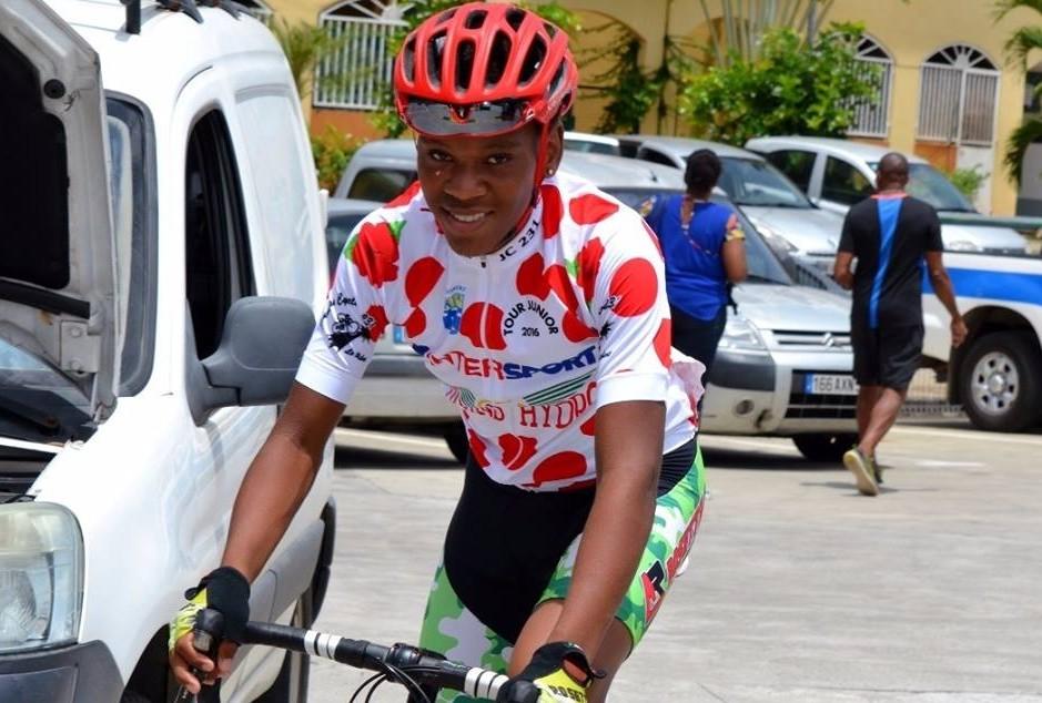 Portrait du jeune Edwin Nubul champion de Martinique cyclisme sur route espoir et senior