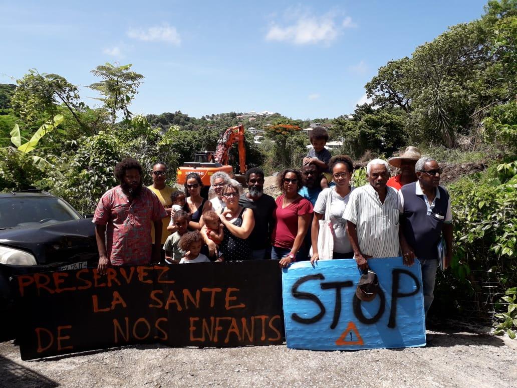 Une dizaine de riverains mobilisée contre un projet de construction d'une station-service au Vauclin