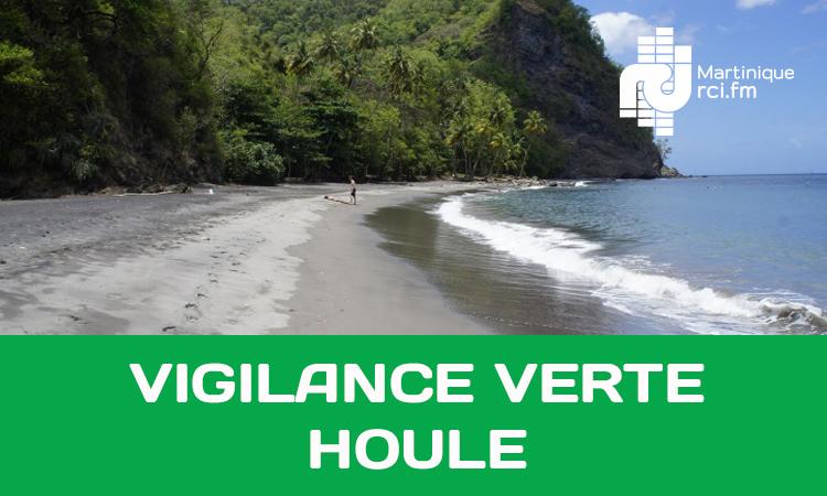 Mer dangereuse à la côte : la Martinique de retour au vert