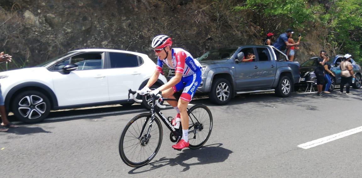 Clément Davy (Groupama - FDJ) remporte le 1er tronçon de la deuxième étape au Carbet