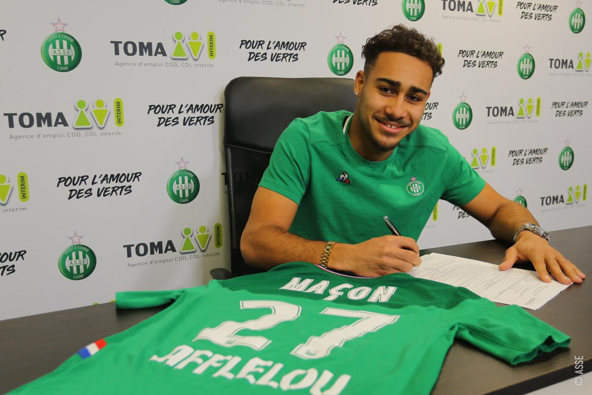 Yvann Maçon, titulaire pour la première fois en Ligue 1 avec les Verts