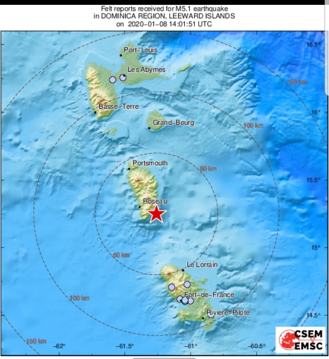Un tremblement de terre enregistré en Martinique ce mercredi matin