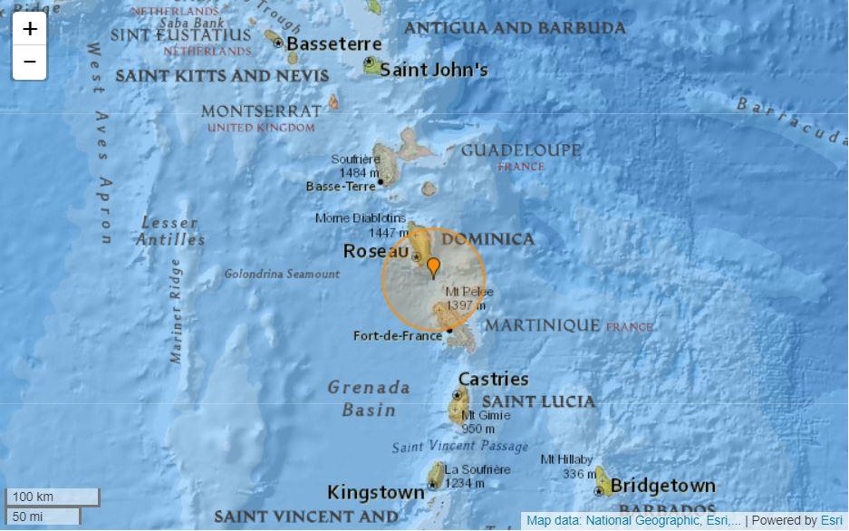 Léger séisme au large de Basse Pointe