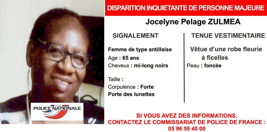 Jocelyne Pelage Zulmea a été retrouvée
