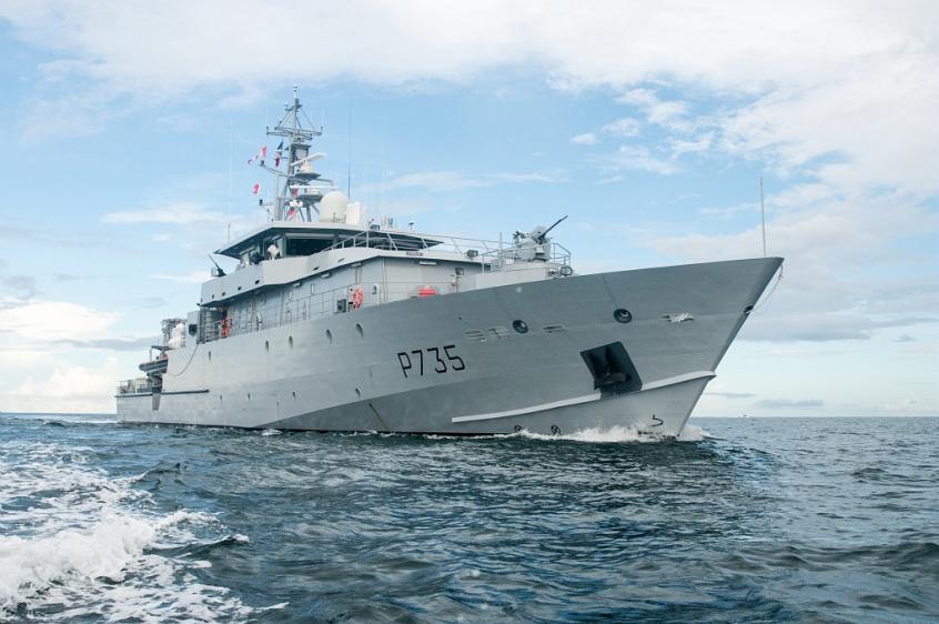 """""""La Combattante"""" troisième navire de guerre aux Antilles"""