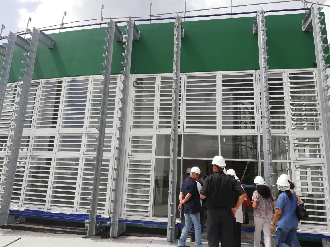 Lycée Schoelcher : la communauté scolaire visite le chantier