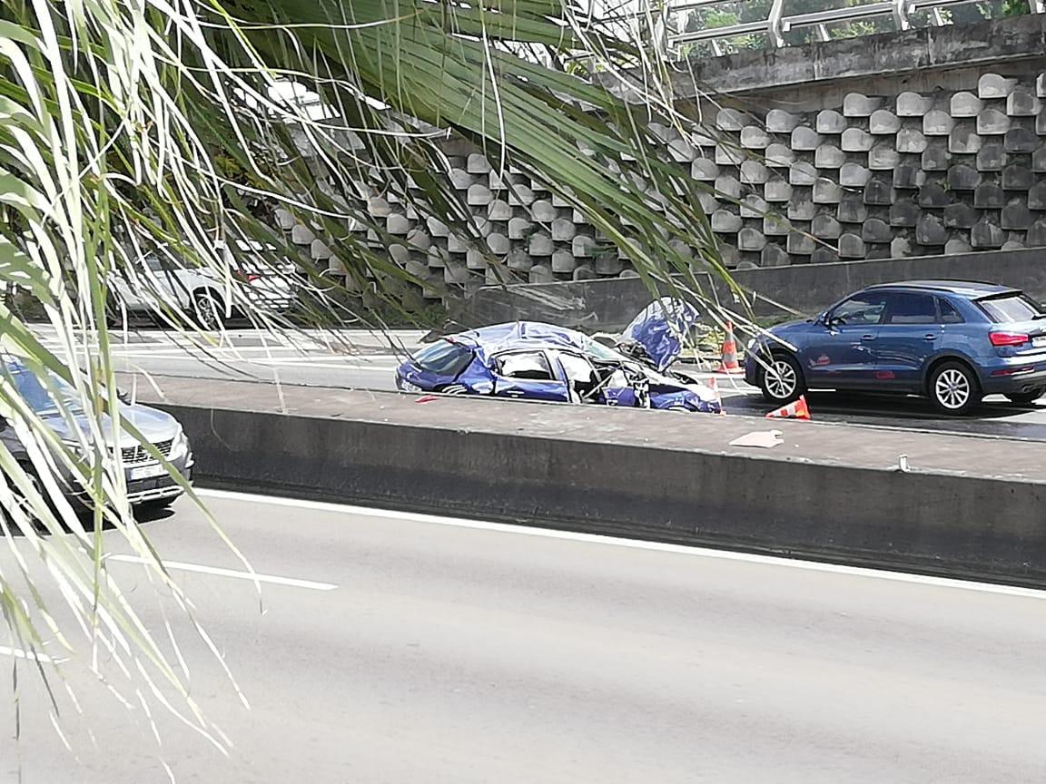 Embouteillages suite à un accident au niveau du pont de Californie