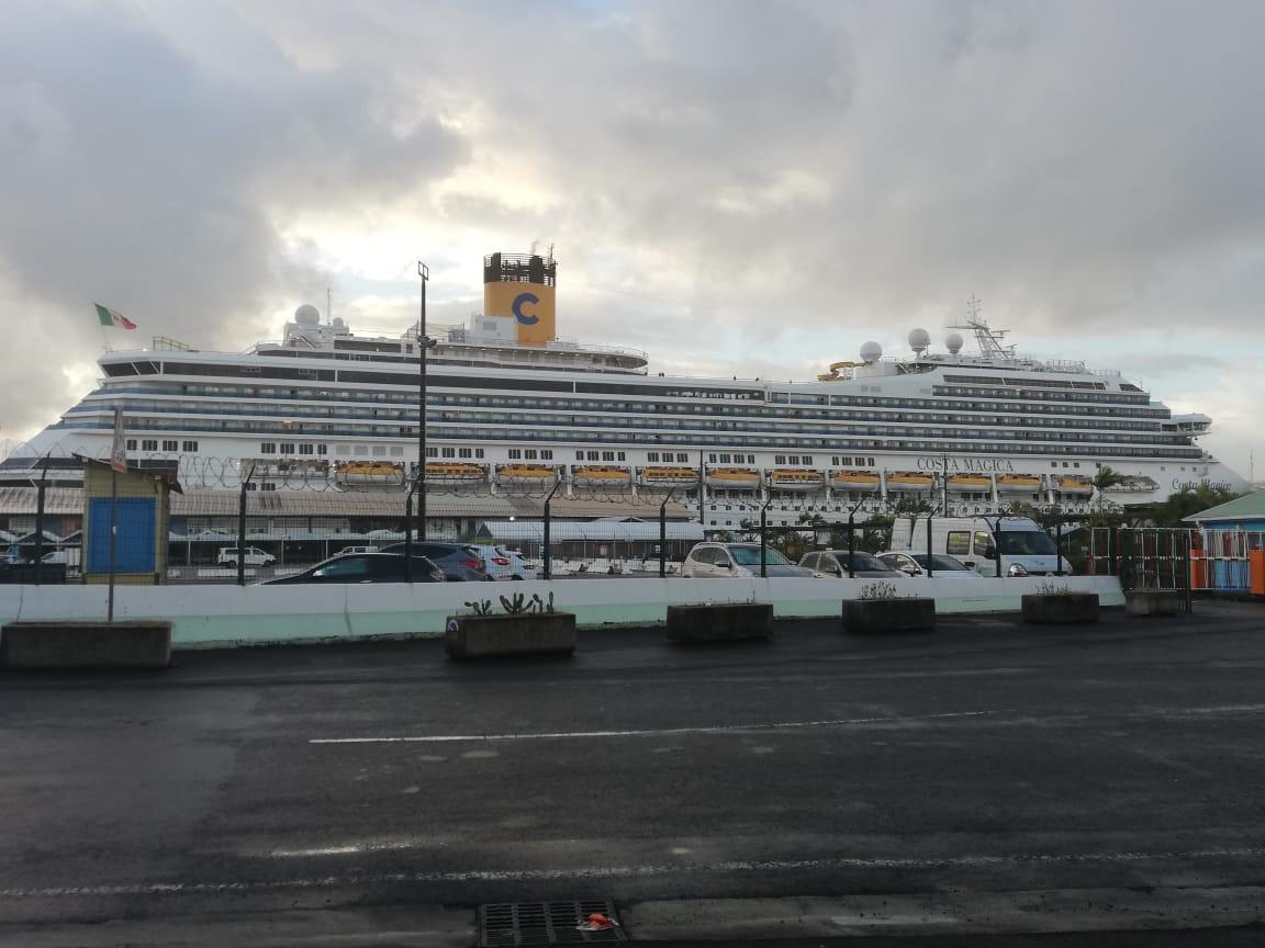 Costa-Magica : le débarquement des passagers Martiniquais est en cours