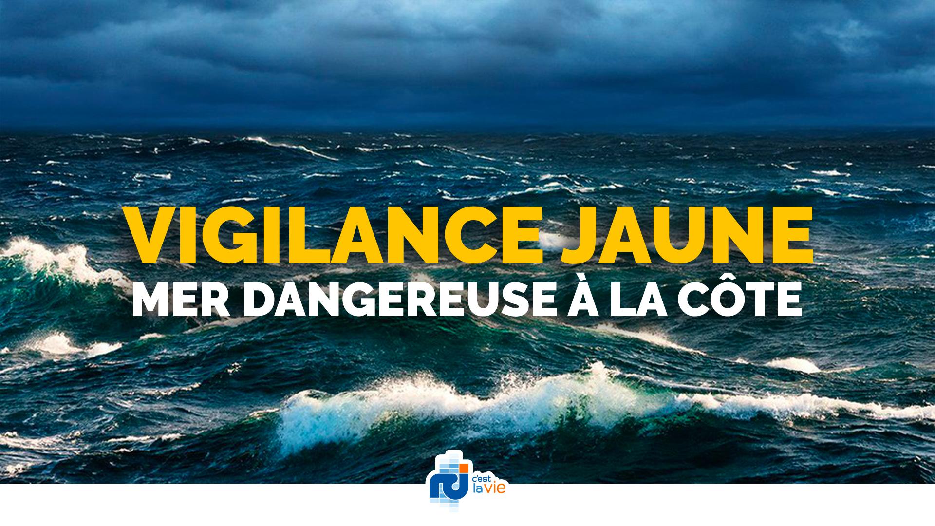 Vigilance jaune pour mer dangereuse toujours maintenue en Martinique