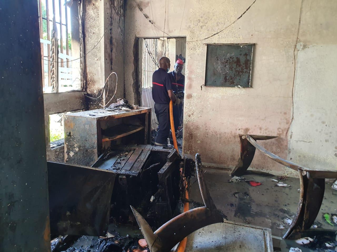 Un incendie a ravagé des locaux administratifs du lycée professionnel de Blanchet