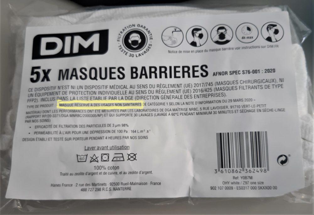 Le Ministère de l'Education suspend la distribution des masques DIM