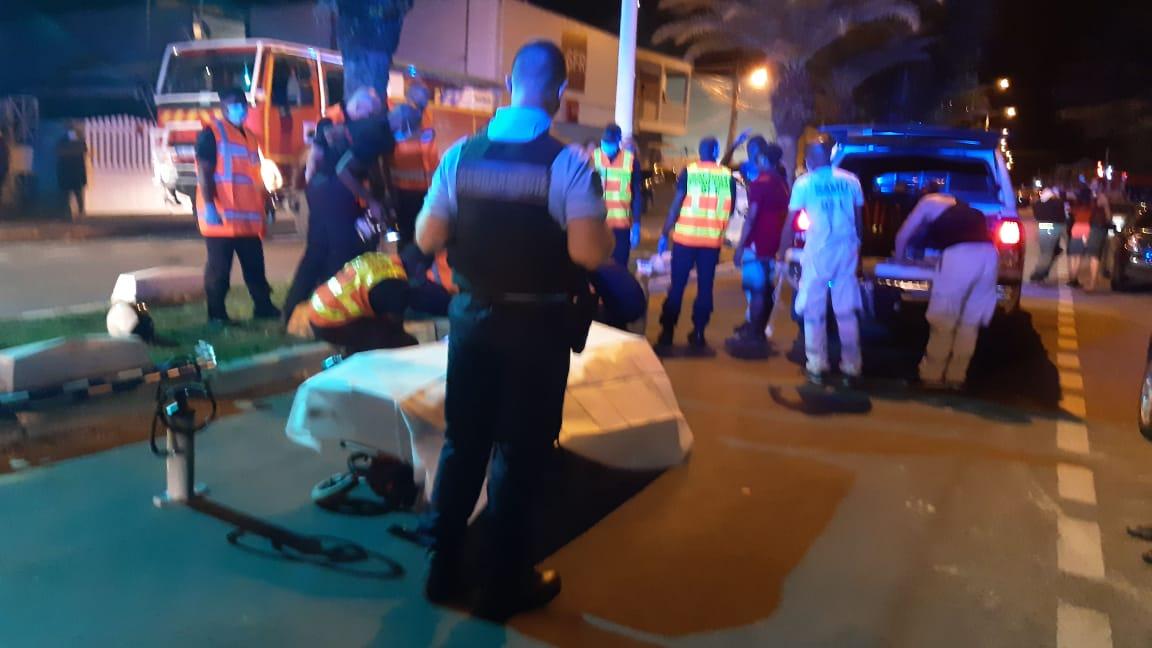 Accident à Sainte-Anne : l'automobiliste retrouvé et interpellé
