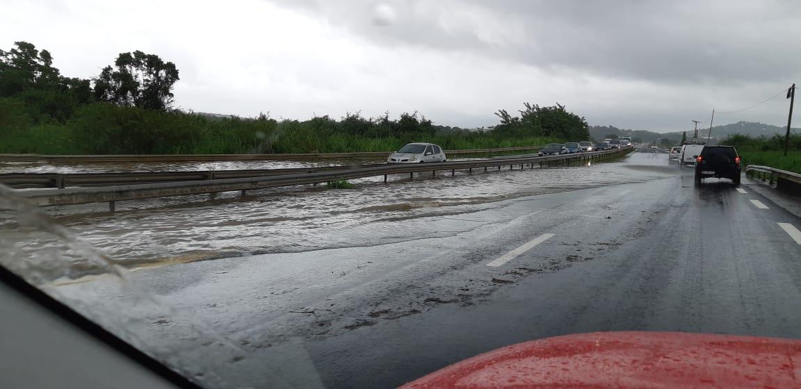 Circulation impossible vers le sud de la Martinique via la RN5