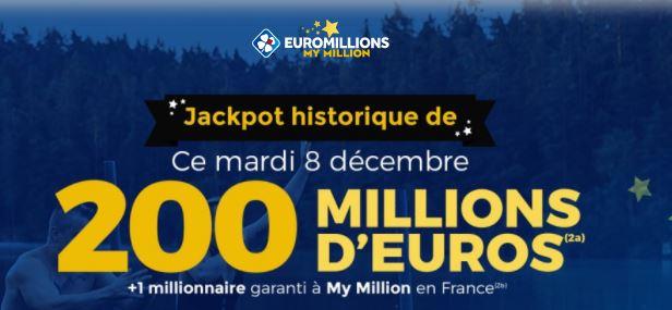 La Française des Jeux remet en jeu une cagnotte de 200 millions d'euros