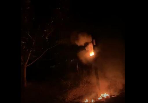 Un des radars de la RN 1 incendié la nuit dernière