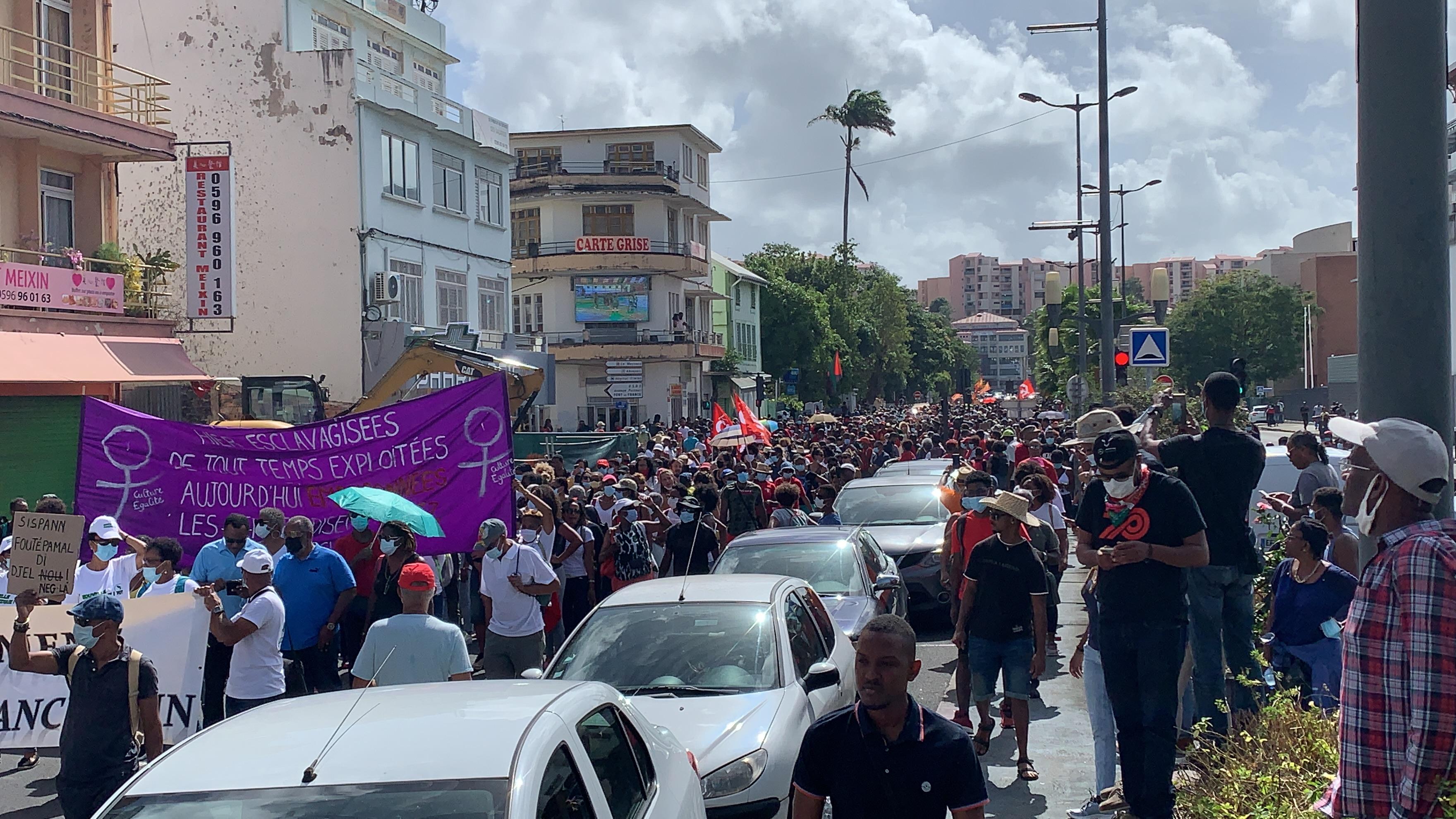 Chlordecone : des milliers de Martiniquais dans les rues de Fort-de-France pour demander justice