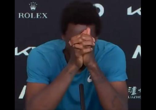 Gael Monfils en larmes à l'Open d'Australie