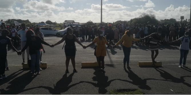 Les élèves de Terminale Professionnelle mobilisés au lycée Nord Grande-Terre