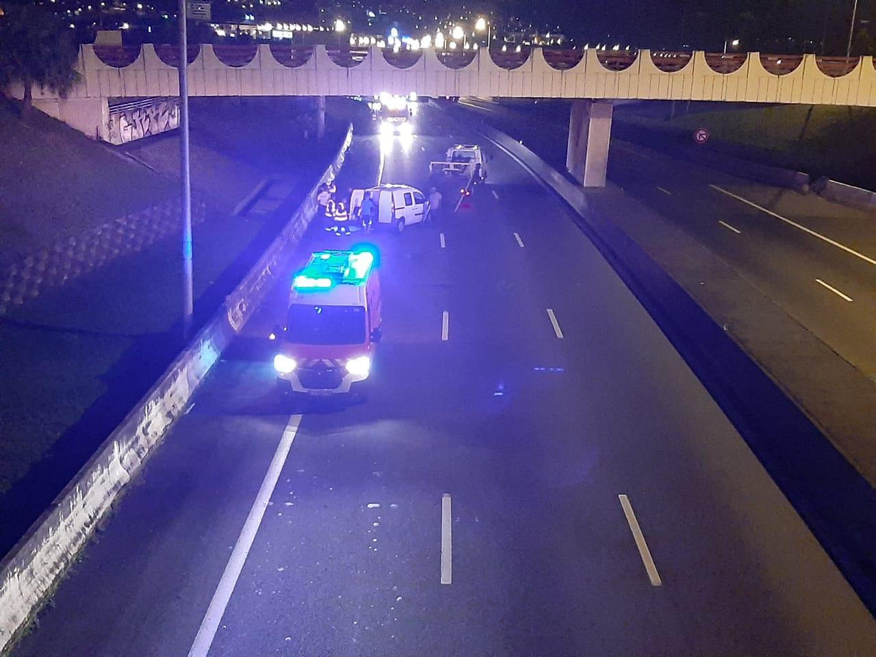 Un accident provoque la fermeture temporaire d'une portion de l'autoroute