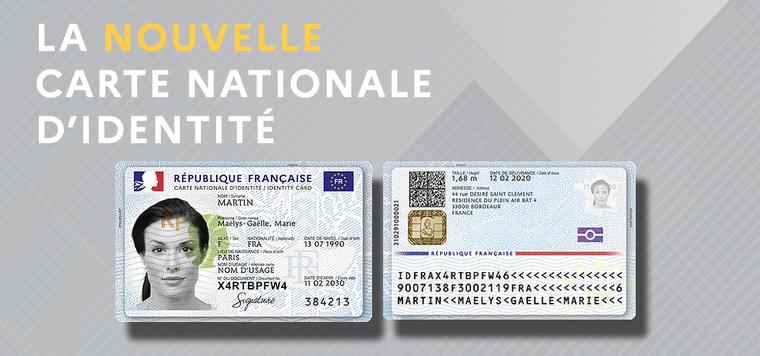 La nouvelle carte nationale d'identité disponible en août 2021