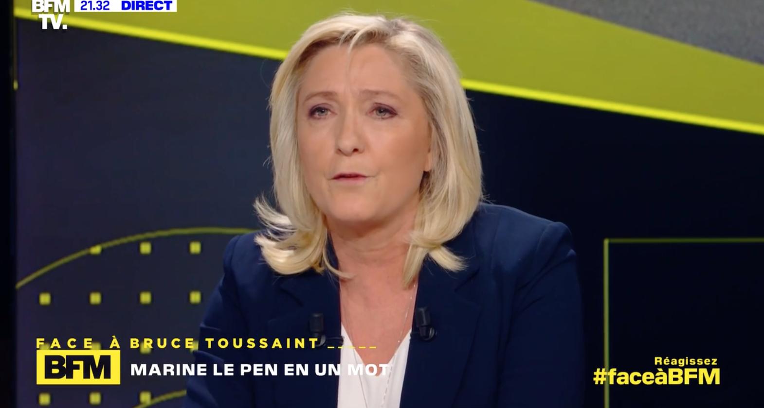 Accusée de xénophobie, Marine Le Pen évoque ses scores électoraux en Outre-mer
