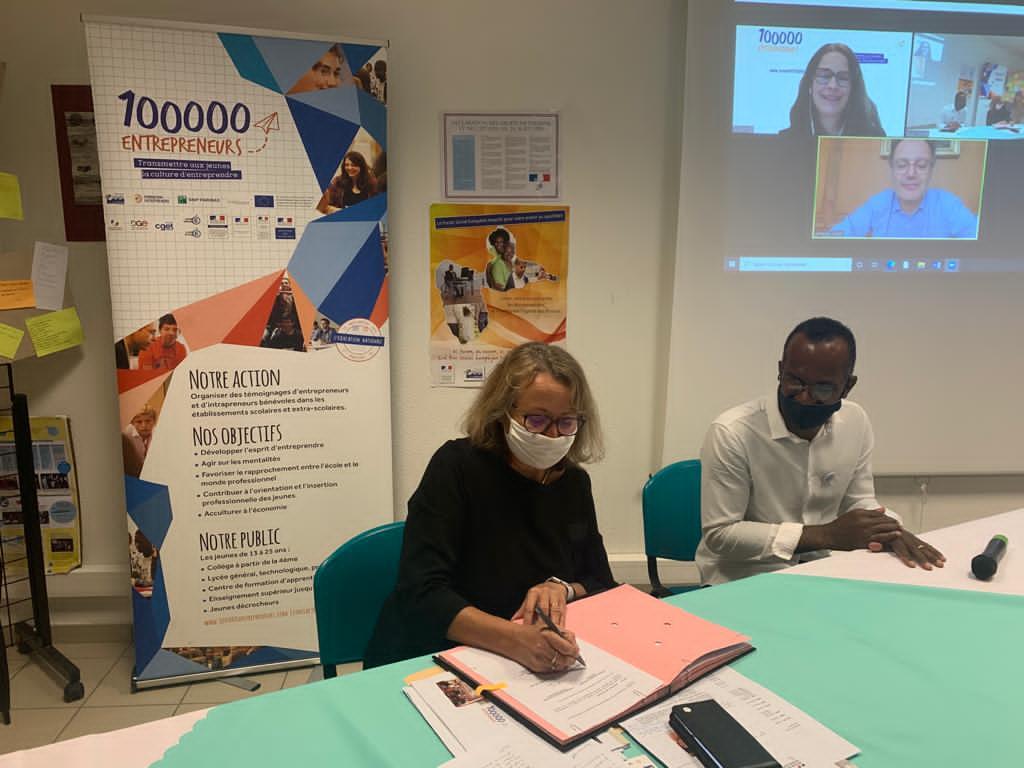 L'académie de Guadeloupe et 100 000 entrepreneurs renouvellent leur partenariat