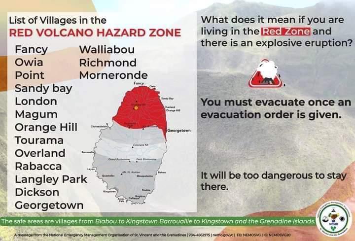 Saint-Vincent : alerte rouge et évacuation de la population aux alentours de la Soufrière