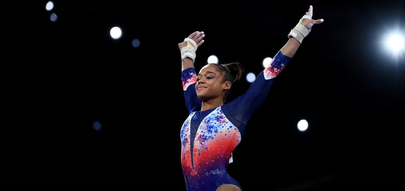 La Martiniquaise Mélanie De Jesus Dos Santos sacrée championne d'Europe à la poutre