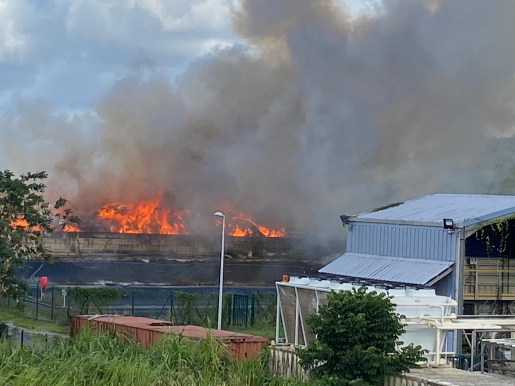 [VIDEO] Incendie important à la déchetterie de la Trompeuse à Fort-de-France
