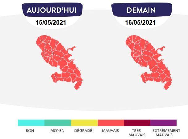 La qualité de l'air est mauvaise : la procédure d'alerte est activée