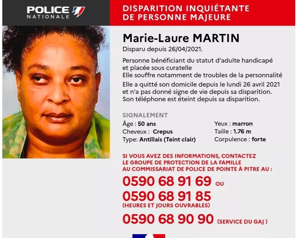 Avis de recherche : Marie-Laure Martin, 50 ans est portée disparue