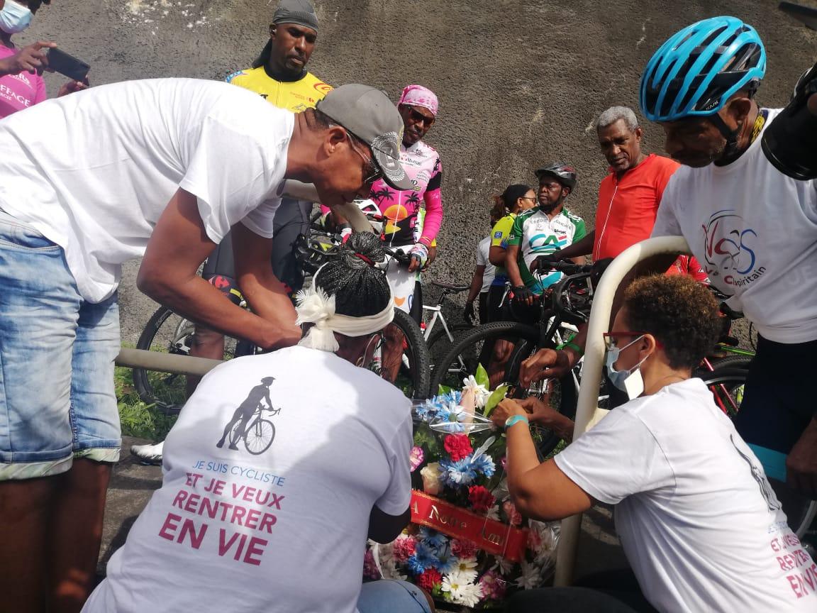 Hommage à Gérard Toto, cycliste mort sur la route