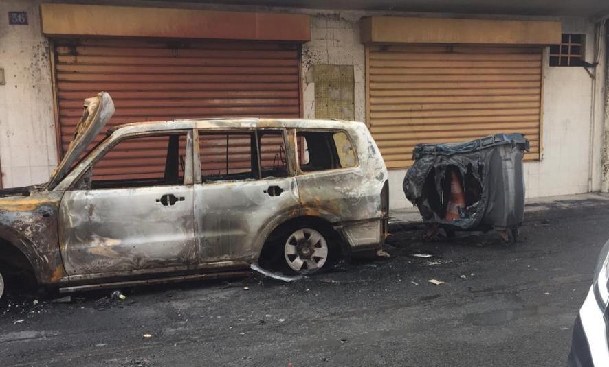 Lendemain de heurts : dégâts empreints de désolation à Fort-de-France