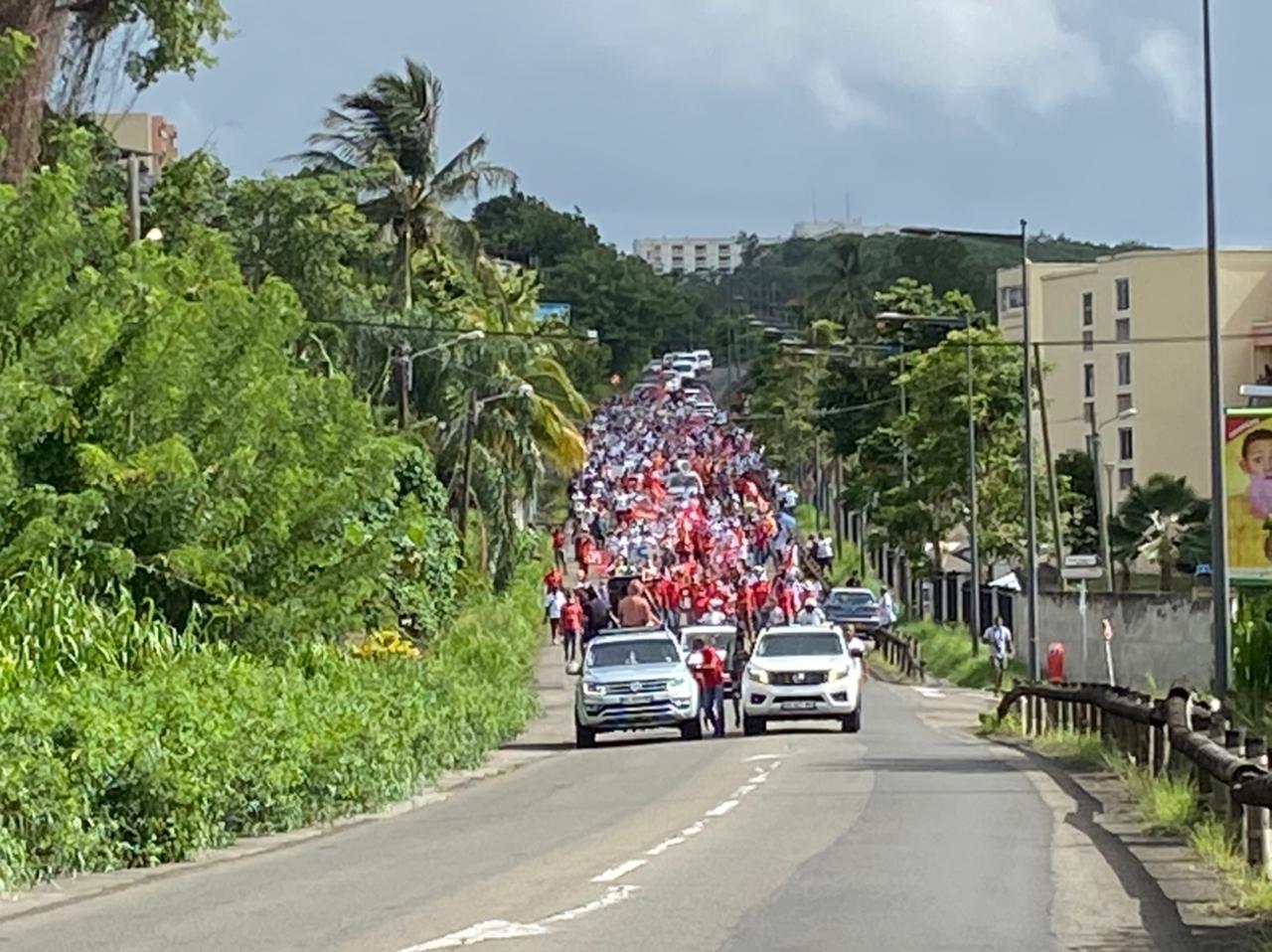 Le personnel soignant de Martinique se mobilise contre la vaccination obligatoire