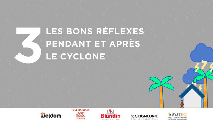 [VIDÉO] Saison cyclonique : les bons réflexes pendant et après le cyclone