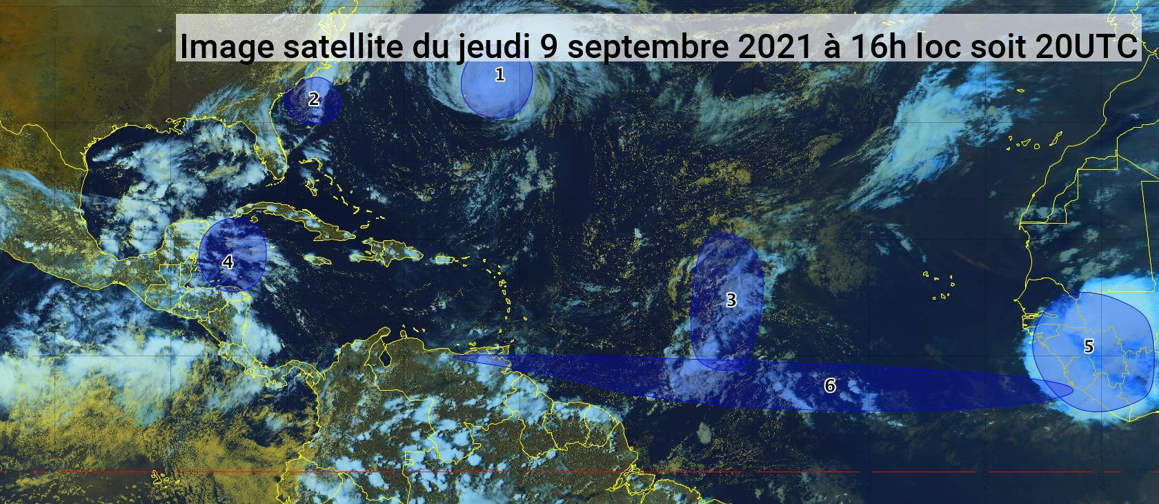 L'ouragan Larry est déjà loin, deux autres zones sont sous surveillance (bulletin du 09/09/21)