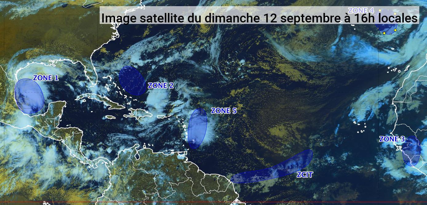 La tempête tropicale Nicholas s'est formée ce dimanche dans le golfe du Mexique (bulletin du 12/09/21)
