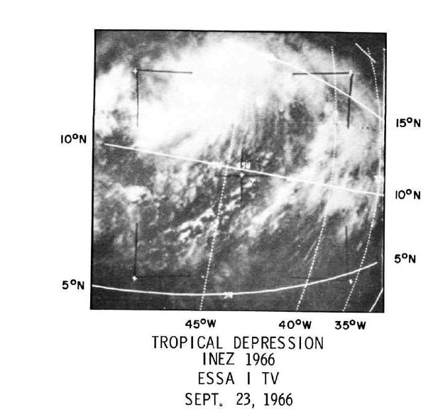 Image météo Inez 1966
