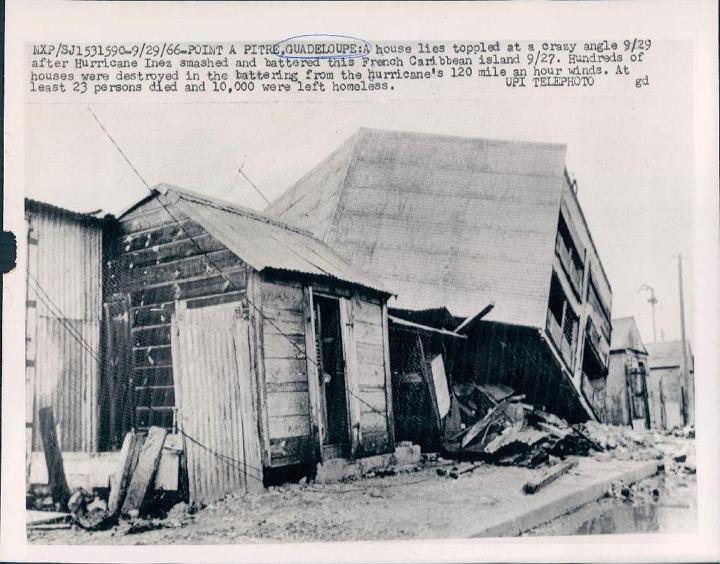 La ville de Pointe à Pitre dévastée