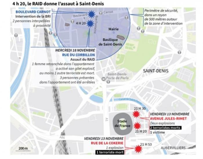 ASSAUT SAINT-DENIS : Les terroristes neutralisés