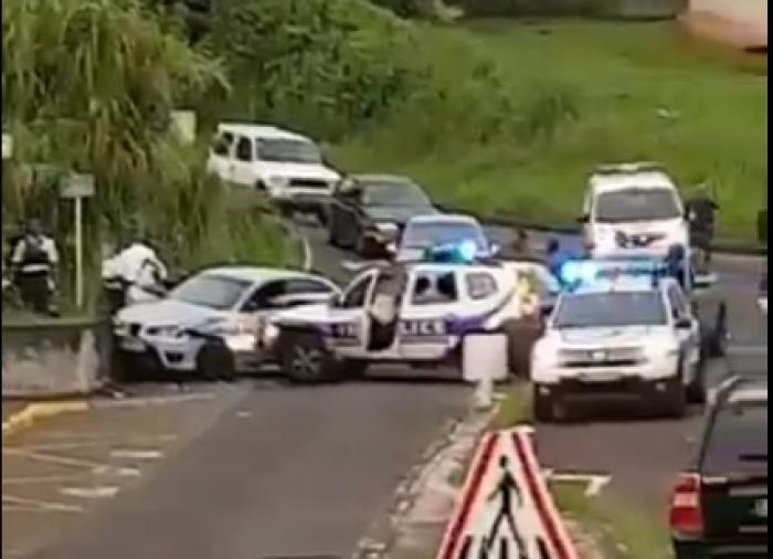 Course poursuite entre Fort-de-France et le Lamentin : deux policiers blessés, le conducteur en garde à vue