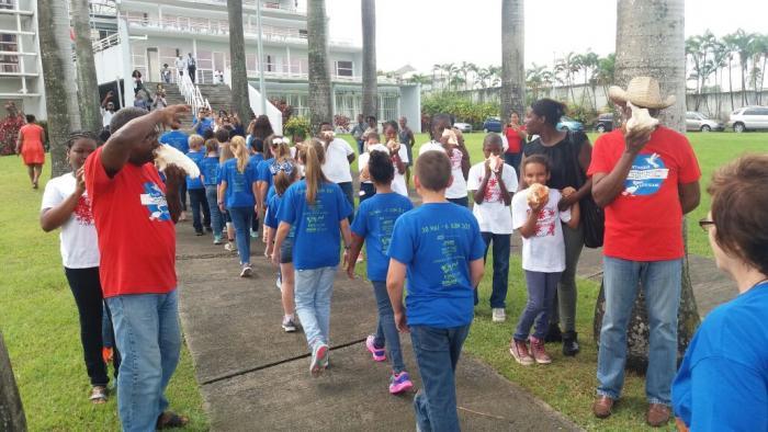 Des élèves de Louisiane en visite en Martinique