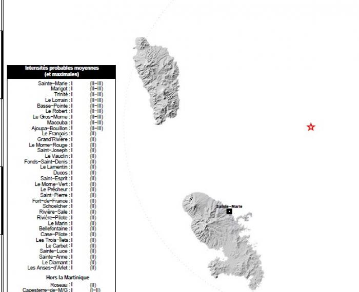 Deux légers séismes enregistrés en Martinique cette nuit