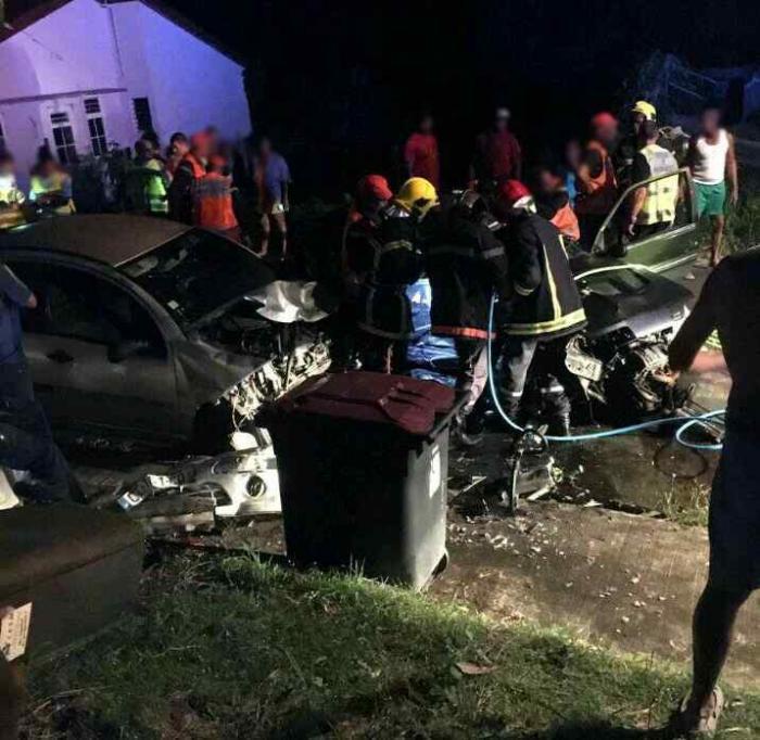 Deux morts dans un choc frontal à Rivière-Pilote