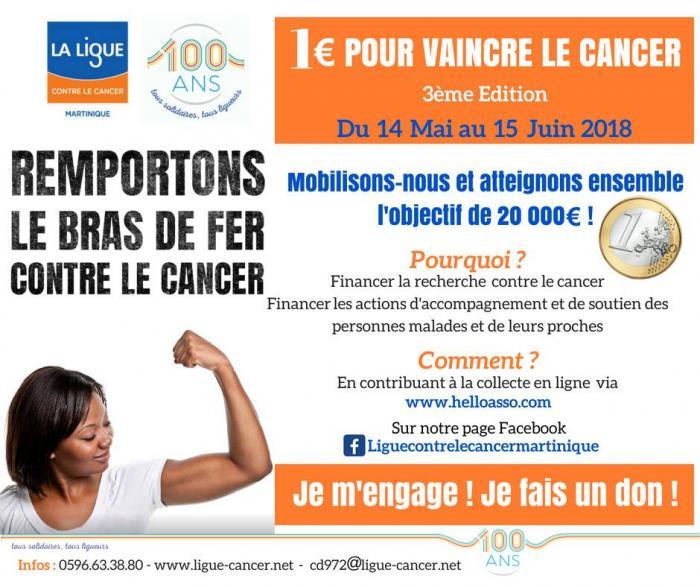 """Début de la 3ème édition de l'opération """"1 euro pour vaincre le cancer"""""""