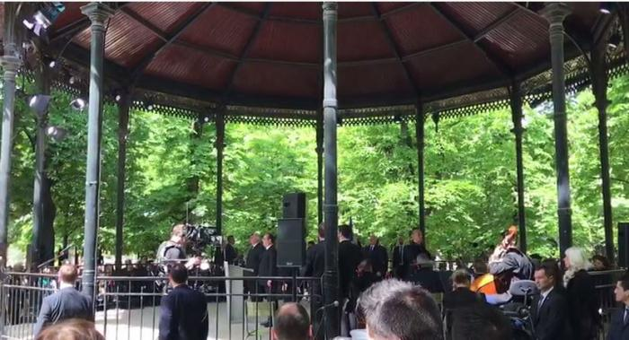 EN IMAGES. La cérémonie de commémoration de l'esclavage au Jardin du Luxembourg