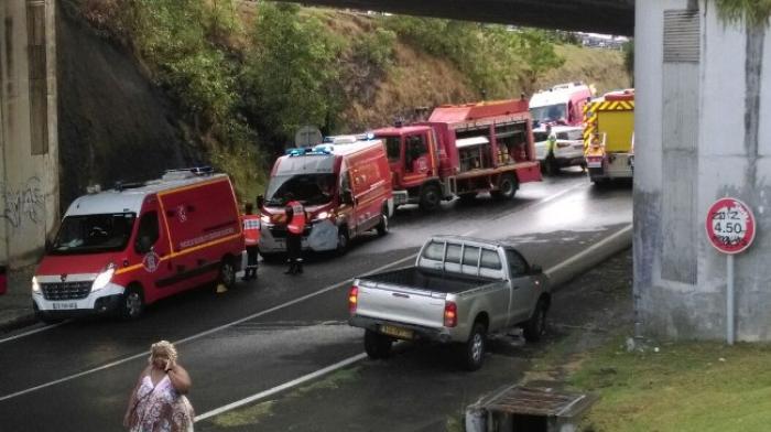 Important accident à Sainte-Luce