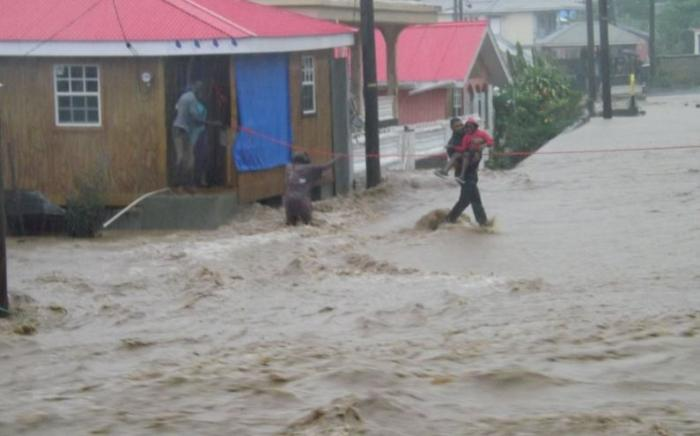 L'alerte inondation déclenchée sur l'ile de la Dominique