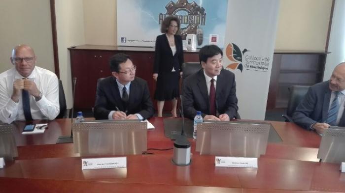 L'ambassadeur de Chine en France était de passage en Martinique
